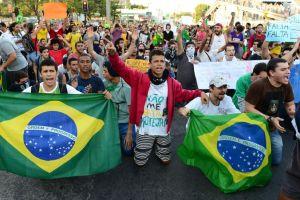 Protests in Rio de Janeiro, Brazil.