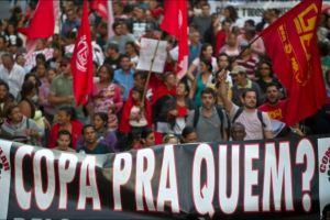 "Protests started in Sao Paulo. ""Who is the World Cup for?"""