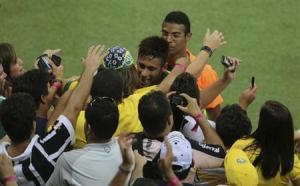 Neymar, Brazil's actual best player, and the crowd